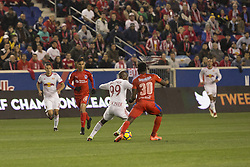 March 1, 2018 - Harrison, New Jersey, United States - Bradley Wright_Phillips (99) of New York Red Bulls controls ball during 2018 CONCACAF Champions League round of 16 game against CD Olimpia of Honduras at Red Bull arena, Red Bulls won 2 - 0  (Credit Image: © Lev Radin/Pacific Press via ZUMA Wire)