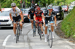 07.07.2011, AUT, 63. OESTERREICH RUNDFAHRT, 5. ETAPPE, ST. JOHANN-SCHLADMING, im Bild Etappensieger Ian Stannard, (GBR, Sky Procycling), Stefan Denifl, (AUT, Leopard Trek), Gatis Smukulis, (LAT, HTC Highroad), Yannick Eijssen, (BEL, BMC Racing Team) // during the 63rd Tour of Austria, Stage 5, 2011/07/07, EXPA Pictures © 2011, PhotoCredit: EXPA/ S. Zangrando