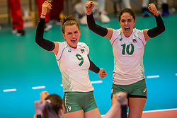 01-04-2017 NED:  CEV U18 Europees Kampioenschap vrouwen dag 1, Arnhem<br /> Nederland - Bulgarije verliest met 1-3 / Maria Yordanova #9, Viktoria Angelova #10