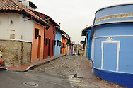 Old Bogota's narrow, colorful streets