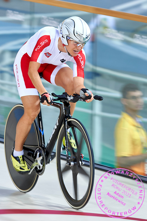 Rio de Janeiro, Brazil - 2016 September 08: Anna Harkowska from Poland competes in Women's C5 3000m Individual Pursuit at Rio Olympic Velodrome during 2016 Summer Paralympic Games on September 08, 2016 in Rio de Janeiro, Brazil.<br /> <br /> Adam Nurkiewicz declares that he has no rights to the image of people at the photographs of his authorship.<br /> <br /> Picture also available in RAW (NEF) or TIFF format on special request.<br /> <br /> Any editorial, commercial or promotional use requires written permission from the author of image.<br /> <br /> Mandatory credit:<br /> Photo by &copy; Adam Nurkiewicz / Mediasport