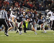Ole Miss quarterback Bo Wallace (14) vs. Texas A&M in Oxford, Miss. on Saturday, October 6, 2012. Texas A&M won 30-27...