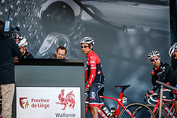 BEPPU Fumiyuki of Trek - Segafredo before the UCI WorldTour 103rd Liège-Bastogne-Liège from Liège to Ans with 258 km of racing at Liège (258 km to go), Belgium, 23 April 2017. Photo by Pim Nijland / PelotonPhotos.com   All photos usage must carry mandatory copyright credit (Peloton Photos   Pim Nijland)