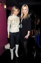 Left to right, HOFIT GOLAN and ANNEKA SVENSKA at the launch party of the Nokia 5800 phone held at PUNK 14 Soho Street, London W1 on 27th January 2009.