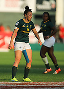 DUBAI, UNITED ARAB EMIRATES - Thursdays 30 November 2017, Christeline Steinhobel of South Africa during HSBC Emirates Airline Dubai Rugby Sevens match between South Africa and the USA at The Sevens Stadium in Dubai.<br /> Photo by Roger Sedres/ImageSA