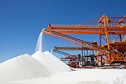 AREIA BRANCA_RN, Brasil.<br /> <br /> Terminal Salineiro de Areia Branca Luiz Fausto de Medeiros, mais conhecido como Porto-Ilha de Areia Branca no Rio Grande do Norte.<br /> <br /> Salt production in Areia Branca Luiz Fausto de Medeiros, better known as Porto-Ilha de Areia Branca no Rio Grande do Norte.<br /> <br /> Foto: RODRIGO LIMA / NITRO