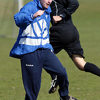 St Johnstone new signing Ryan Stevenson who  has signed on a two year deal from Chelsea....Pictured training this morning<br /><br />see story by Gordon Bannerman Tel:01738 553978<br /><br />Picture by Graeme Hart.<br />Copyright Perthshire Picture Agency<br />Tel: 01738 623350  Mobile: 07990 594431