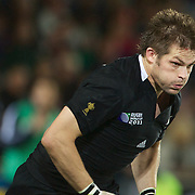 All Blacks Captain Richie McCaw,  in action during the New Zealand V France Final at the IRB Rugby World Cup tournament, Eden Park, Auckland, New Zealand. 23rd October 2011. Photo Tim Clayton...