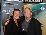"""Dolores Lynn and James Harrold City Arts Officer  at the World Premiere of the """"Luck Just Kissed you Hello""""by Amy Conroy in the Mick Lally theatre (Druid) on the opening night of Galway international Arts Festival. Photo:andrew Downes xposure"""