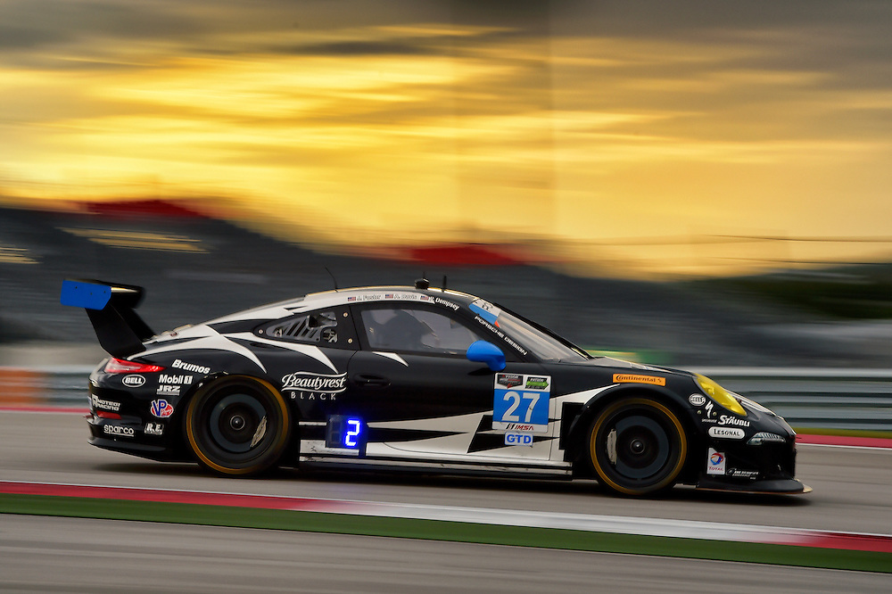 18-20 September 2014, Austin, Texas USA<br /> 27, Porsche, 911 GT America, GTD, Patrick Dempsey, Andrew Davis<br /> &copy;2014, Scott R LePage <br /> LAT Photo USA