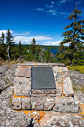Albert Stoll, Jr. Memorial plaque, Isle Royale National Park, Michigan, United States of America