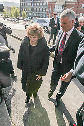 "© Licensed to London News Pictures . 24/04/2014 . Macclesfield , UK . Actress BARBARA KNOX MBE (left) , who plays Rita Tanner in Coronation Street , arrives at Macclesfield Magistrates Court this morning (Thursday 24th April 2014) . Knox is accused of drink driving and is represented by celebrity lawyer Nick Freeman (right) , who is known as "" Mr Loophole "" for his ability to get his clients cleared on legal technicalities . Photo credit : Joel Goodman/LNP"