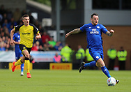 Lee Tomlin of Cardiff City during the Sky Bet Championship match at the Pirelli Stadium, Burton upon Trent<br /> Picture by Mike Griffiths/Focus Images Ltd +44 7766 223933<br /> 05/08/2017
