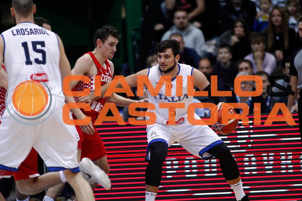 Gentile Alessandro<br /> Nazionale Italiana Maschile Senior - 2019 FIBA Basketball World Cup Qualifiers<br /> Croazia Italia -  Croatia Italy<br /> FIP 2017<br /> Zagabria, 24/11/2017<br /> Foto   Ciamillo-Castoria