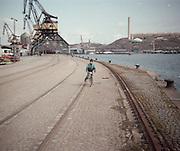 Norra Hammarbykajen vi Hammarbykanalen.