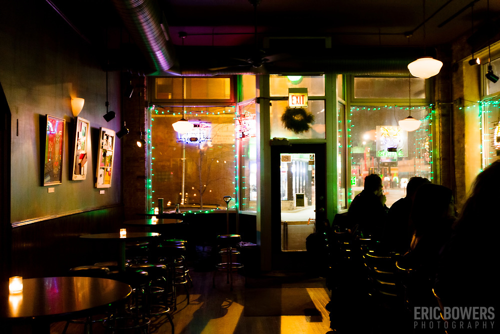 Green Eye Lounge at Western Avenue and Milwaukee, Chicago,  Illinois, USA.