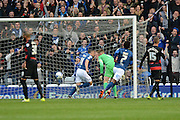 Birmingham City defender Paul Caddis celebrates scoring a penalty during the Sky Bet Championship match between Birmingham City and Queens Park Rangers at St Andrews, Birmingham, England on 17 October 2015. Photo by Alan Franklin.