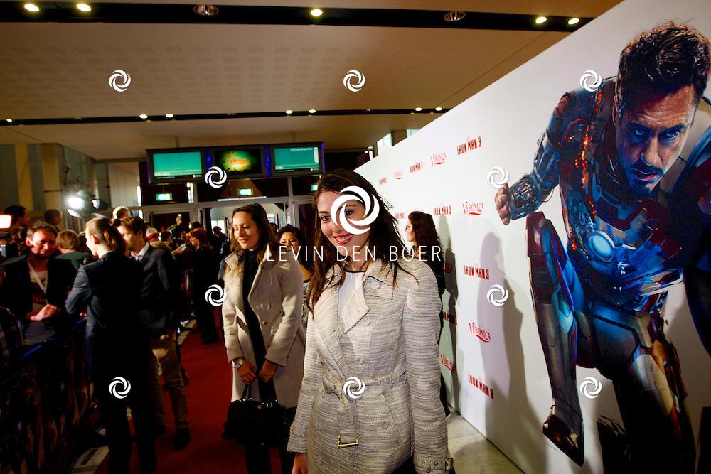 AMSTERDAM - In het Rai theater is de filmpremiere van Iron Man 3. Met op de foto  Nadia Palesa. FOTO LEVIN DEN BOER - PERSFOTO.NU