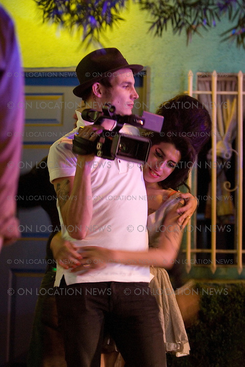 May 22, 2007 Los Angeles, CA. Amy Winehouse and husband Blake Fielder-Civil on the set of her music video for Tears Dry On Thier Own. The couple married in Miami May 18th. Non Exclusive Photo By Eric Ford 1/818-613-3955 ..info@onlocationnnews.com
