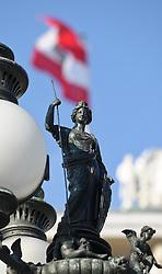 THEMENBILD - Parlament an einen Sonnentag im Jaenner. Der Bau des Parlaments, damals Reichsrat genannt, begann 1861 unter Architekt Theophil Hansen und wurde 1883 fertiggestellt.  das Bild wurde am 25. Jaenner 2012 aufgebommen, im Bild TEXT , AUT, EXPA Pictures © 2012, PhotoCredit: EXPA/ M. Gruber