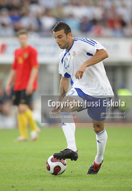 Aleksei Eremenko Junior. Suomi ? Belgia, EM-karsinta, Helsinki, Olympiastadion 6.6.2007. Photo: Jussi Eskola