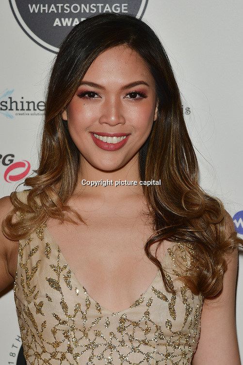 Christine Allado Arriver at the 18th Annual WhatsOnStage Awards 2018 at Prince of Wales Theatre on 25 Feb 2018, London, UK