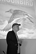 Phil Hoose presenting his most recent book, Moonbird: A Year on the Wind with the Great Survivor B95