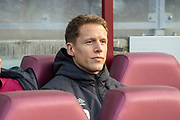 Christophe Berra (#6) of Heart of Midlothian FC takes his place on the substitutes bench before the Ladbrokes Scottish Premiership match between Heart of Midlothian FC and Aberdeen FC at Tynecastle Stadium, Edinburgh, Scotland on 29 December 2019.
