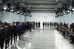 June 8, 2019 - London, England, United Kingdom - Models present a new Spring/Summer 2020 HLA x AEX by JD.COM collection during London Fashion Weak Men's in the old Truman's Brewery show space in London on the June 8, 2019. (Credit Image: © Dominika Zarzycka/NurPhoto via ZUMA Press)