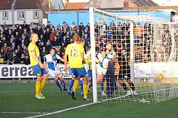 Bristol Rovers' Tom Parkes scores a goal. - Photo mandatory by-line: Dougie Allward/JMP - Tel: Mobile: 07966 386802 30/11/2013 - SPORT - Football - Bristol - Memorial Stadium - Bristol Rovers v AFC Wimbledon - Sky Bet League Two