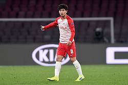 March 7, 2019 - Naples, Naples, Italy - Takumi Minamino of RB Salzburg during the UEFA Europa League match between SSC Napoli and RB Salzburg at Stadio San Paolo Naples Italy on 7 March 2019. (Credit Image: © Franco Romano/NurPhoto via ZUMA Press)