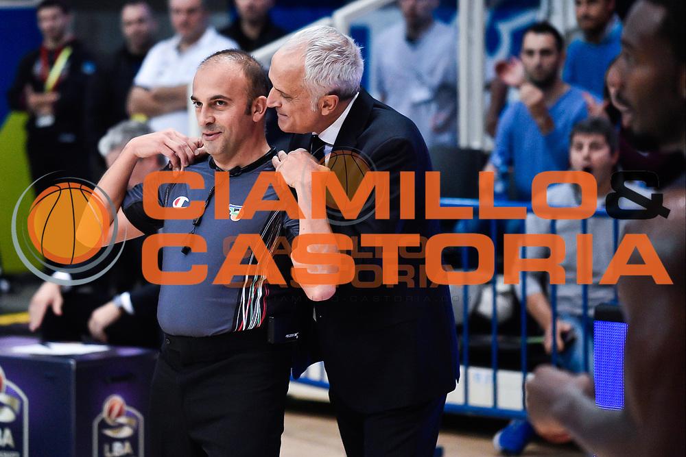 Pancotto Cesare<br /> Dolomiti Energia Trento - Vanoli Cremona<br /> Lega Basket Serie A 2016/2017<br /> Trento 09/10/2016<br /> Foto Ciamillo-Castoria
