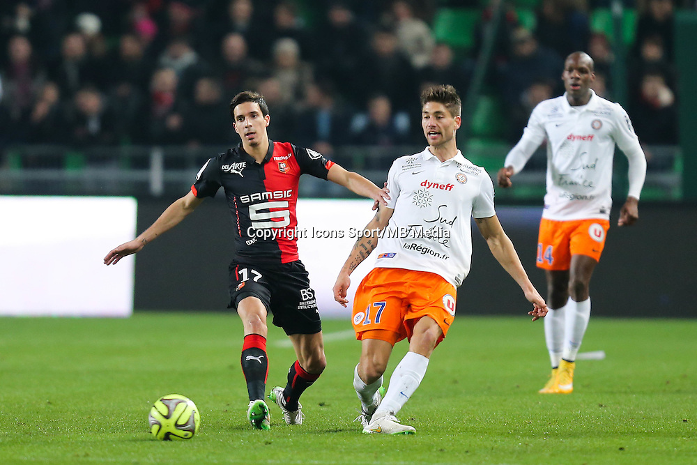 Paul Bastien LASNE / Vincent PAJOT - 06.12.2014 - Rennes / Montpellier - 17eme journee de Ligue 1 -<br />