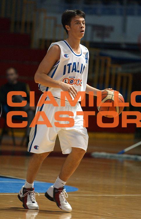 DESCRIZIONE : Belgrado Campionato Europeo Maschile Under 18 <br /> GIOCATORE : Piazza <br /> SQUADRA : Italia Under 18 <br /> EVENTO : Campionato Europeo Maschile Under 18 <br /> GARA : Italia Francia <br /> DATA : 20/07/2005 <br /> CATEGORIA : <br /> SPORT : Pallacanestro <br /> AUTORE : Agenzia Ciamillo-Castoria