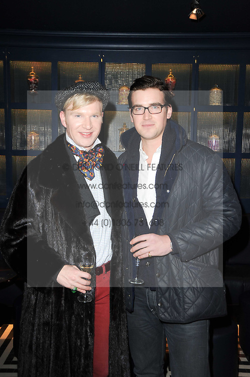 Left to right, brothers HENRY CONWAY and FREDDIE CONWAY at the launch party for the new nightclub Public at 533 Kings Road, London on 2nd December 2010.