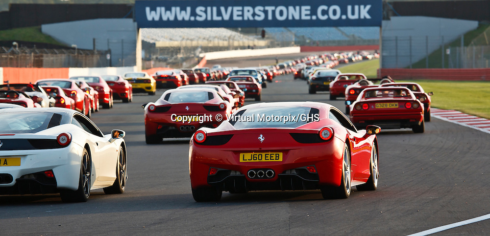 Ferraris assemble on the hangar straight for the guinness world record parade virtual motorpix - Hangar straight silverstone ...