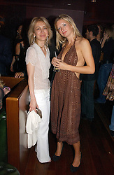 Left to right, SAHAR HASHEMI and LAINEY SHERIDAN-YOUNG at a party hosted by Allegra Hicks and Melissa Del Bono to celebrate the opening of Volstead, Swallow Street, London W1 on 4th May 2006.<br />
