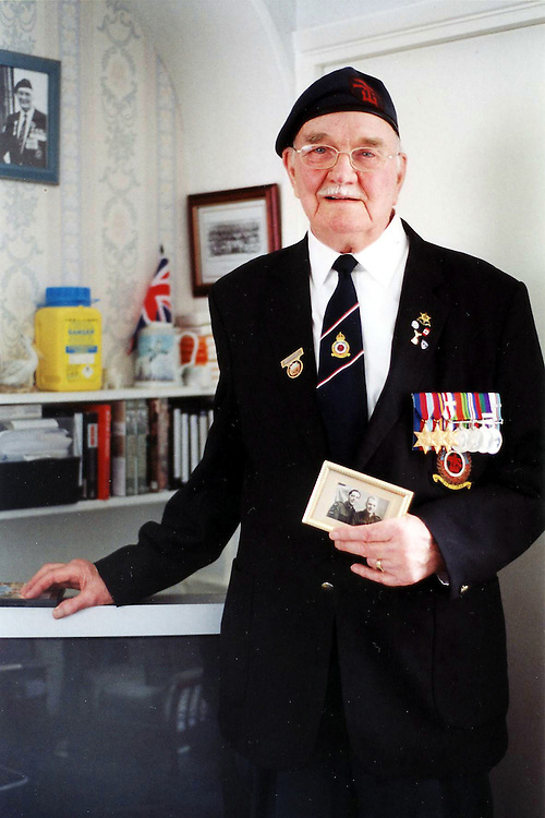 Jack Clabburn in his London flat, British D-Day veteran