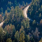 Road winding through Oak Creek Canyon - AZ