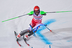 19.02.2019, Stockholm, SWE, FIS Weltcup Ski Alpin, Parallelslalom, Herren, im Bild Christian Hirschbuehl (AUT) // Christian Hirschbuehl of Austria in action during the men's parallel slalom of FIS ski alpine world cup at the Stockholm, Sweden on 2019/02/19. EXPA Pictures © 2019, PhotoCredit: EXPA/ Nisse Schmidt<br /> <br /> *****ATTENTION - OUT of SWE*****