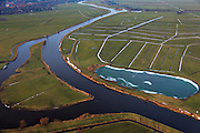 Nederland, Utrecht, Soest, 10-01-2011;.De rivier de Eem bij Grote Melm in de Eempolder. Er igt nog sneeuw in de sloten. Het riviertje doorsnijdt de polders tussen Baarn en Amersfoort en mondt uit in het Eemmeer..The river Eem in the Eempolder. There is still snow in the ditches. The river runs through the polders between the cities of Amersfoort and Baarn and ends into the Eemmeer..luchtfoto (toeslag), aerial photo (additional fee required).foto/photo Siebe Swart
