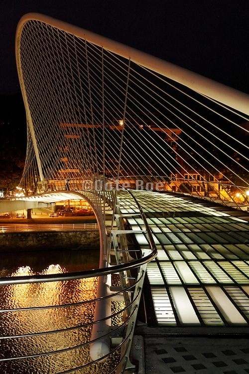 Zubizuri or White footbridge Bilbao by Santiago Calatrava