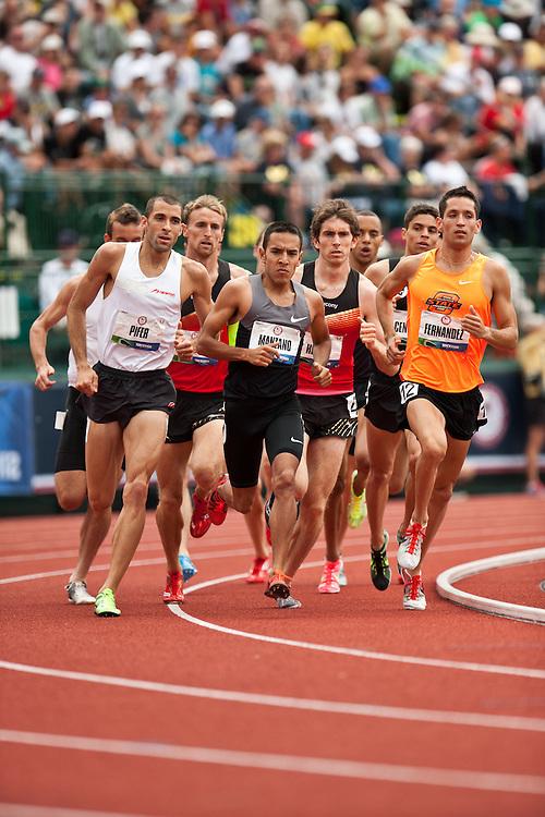 2012 USA Track & Field Olympic Trials: mens 1500 meters, Leo Manzano