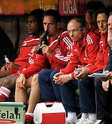 Franck Ribery tastes his boot on the bench. Bundesliga, week 6, FC Bayern Munich v FC Nürnberg, Munich, Germany, 19.09.2009