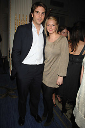 DAVID CRAMMER and the HON.TANYA HAMILTON-SMITH at a party to celebrate the launch of The Essential Party Guide held at the Mandarin Oriental Hyde Park, 66 Knightsbridge, London on 27th March 2007.<br />
