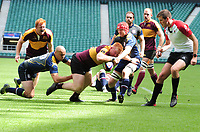 Rugby Union - 2019 Bill Beaumont RFU County Championship Division 2 Final - Surrey vs. Leicestershire<br /> <br /> Adam Nunney of Leicestershire powers over for his first half try, at Twickenham.<br /> <br /> COLORSPORT/ANDREW COWIE
