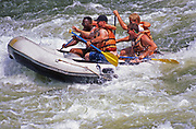 Tubing in fast rapids of the Youghagheny River in Ohiopyle State Park, Pennsylvania