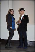 ELEANOR MILLS; DAVID RENFREY, Allen Jones private view. Royal Academy,  London. 11 November  2014.