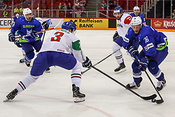 Jan Urbas of Slovenia during Ice Hockey match between National Teams of Italy and Slovenia in Round #5 of 2018 IIHF Ice Hockey World Championship Division I Group A, on April 28, 2018 in Arena Laszla Pappa, Budapest, Hungary. Photo by David Balogh / Sportida