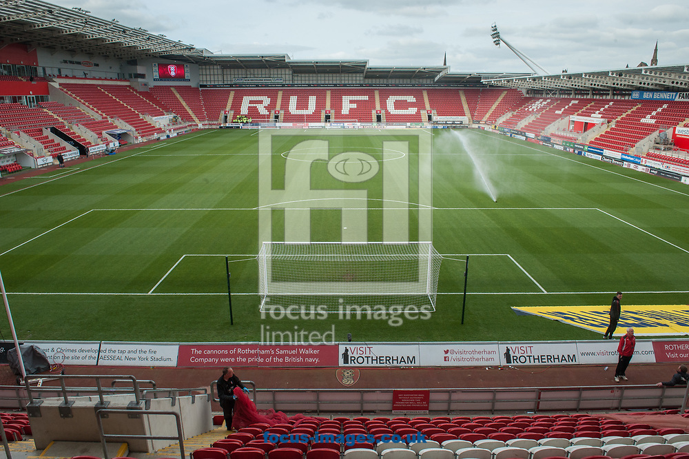 The New York Stadium, Rotherham ahead of the Sky Bet League 1 Play-Off Semi-Final match between Rotherham United and Scunthorpe United <br /> Picture by Matt Wilkinson/Focus Images Ltd 07814 960751<br /> 16/05/2018